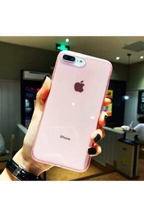 Molly Iphone 7/8 Plus Uyumlu Pembe Süper Crystal Şeffaf Silikon Kılıf