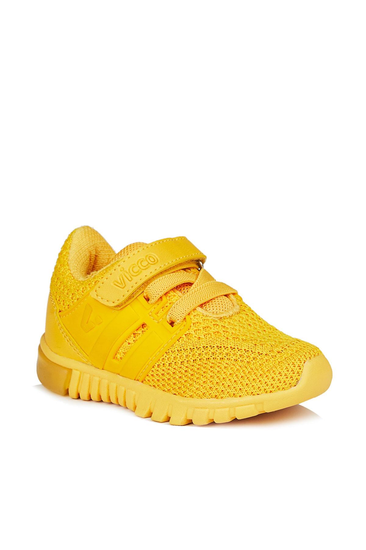 Vicco Bebe Ayakkabı Unisex Bebe Sarı Spor Ayakkabı 1
