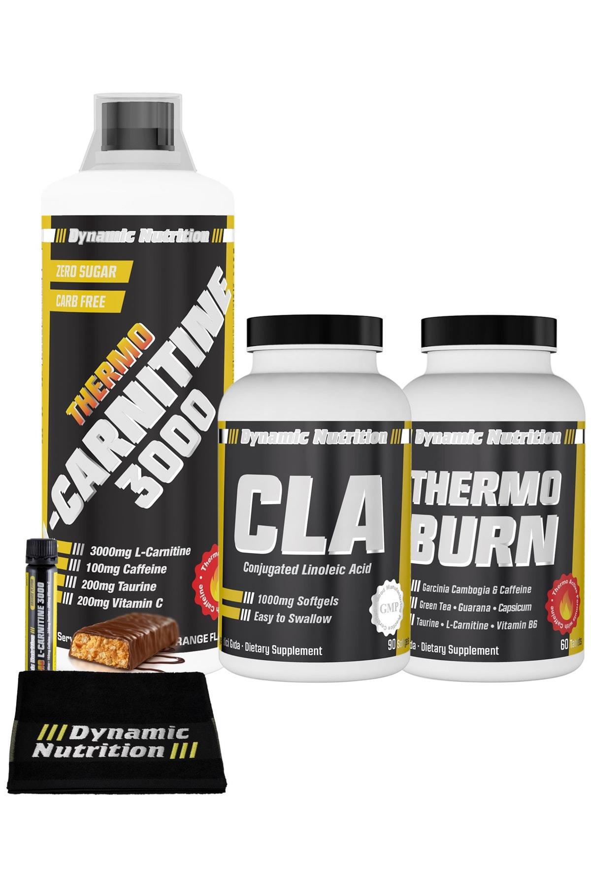 Dynamic Nutrition Dynamic Thermo L-carnitine 3000 Mg 1000 Ml + Thermo Burn 60 Tablet + Cla 90 Kapsül + 3 Hediye 1