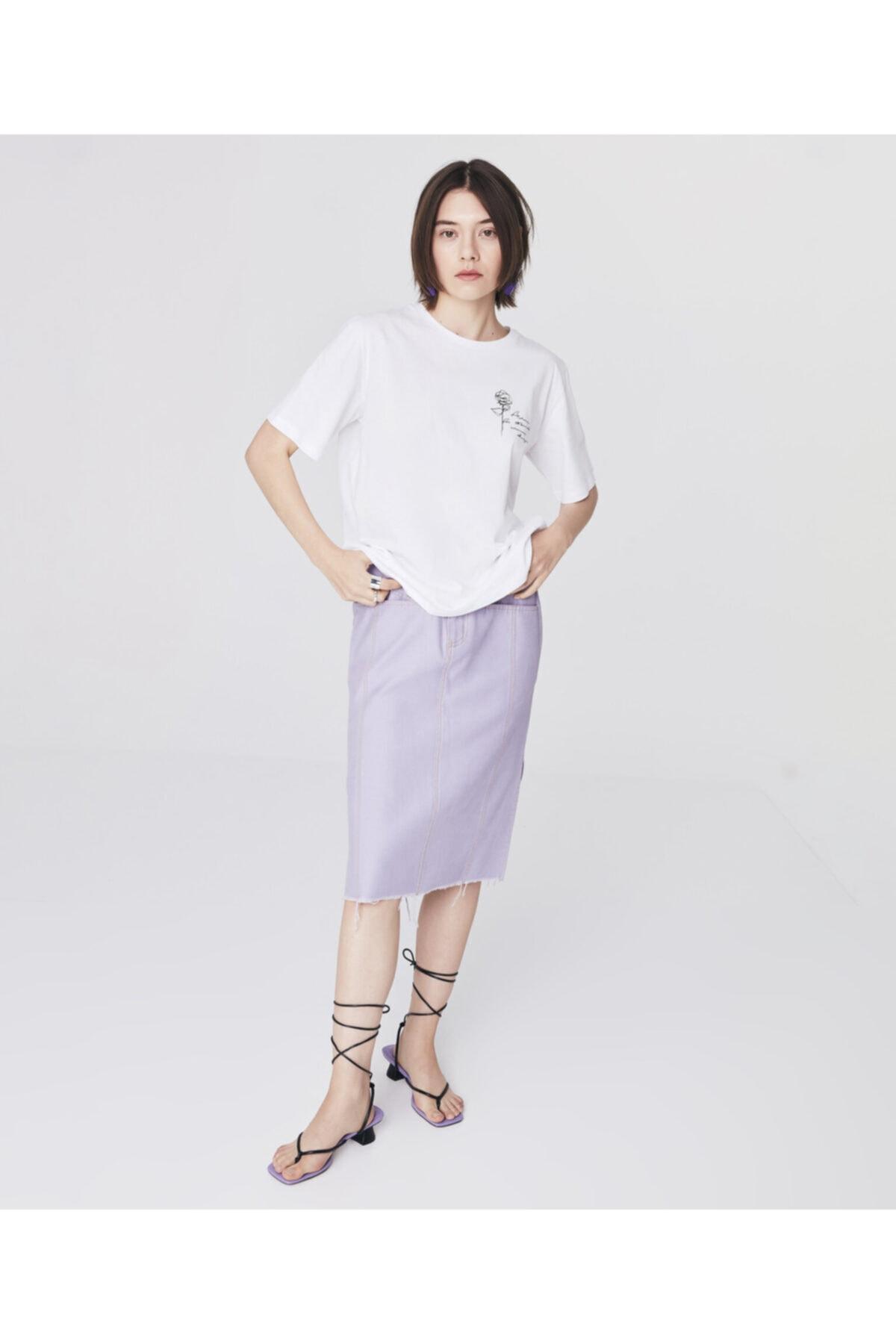 Twist Minimal Baskılı T-shirt 1