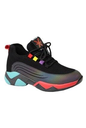 Guja 20k355-1 Kadın Anatomik Sneaker Spor Ayakkabı Siyah
