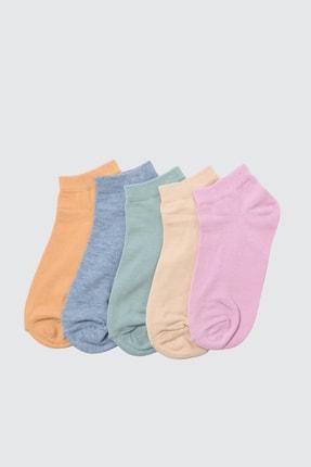 TRENDYOLMİLLA Yeşil 5'li Paket Örme Çorap TWOSS21CO0014