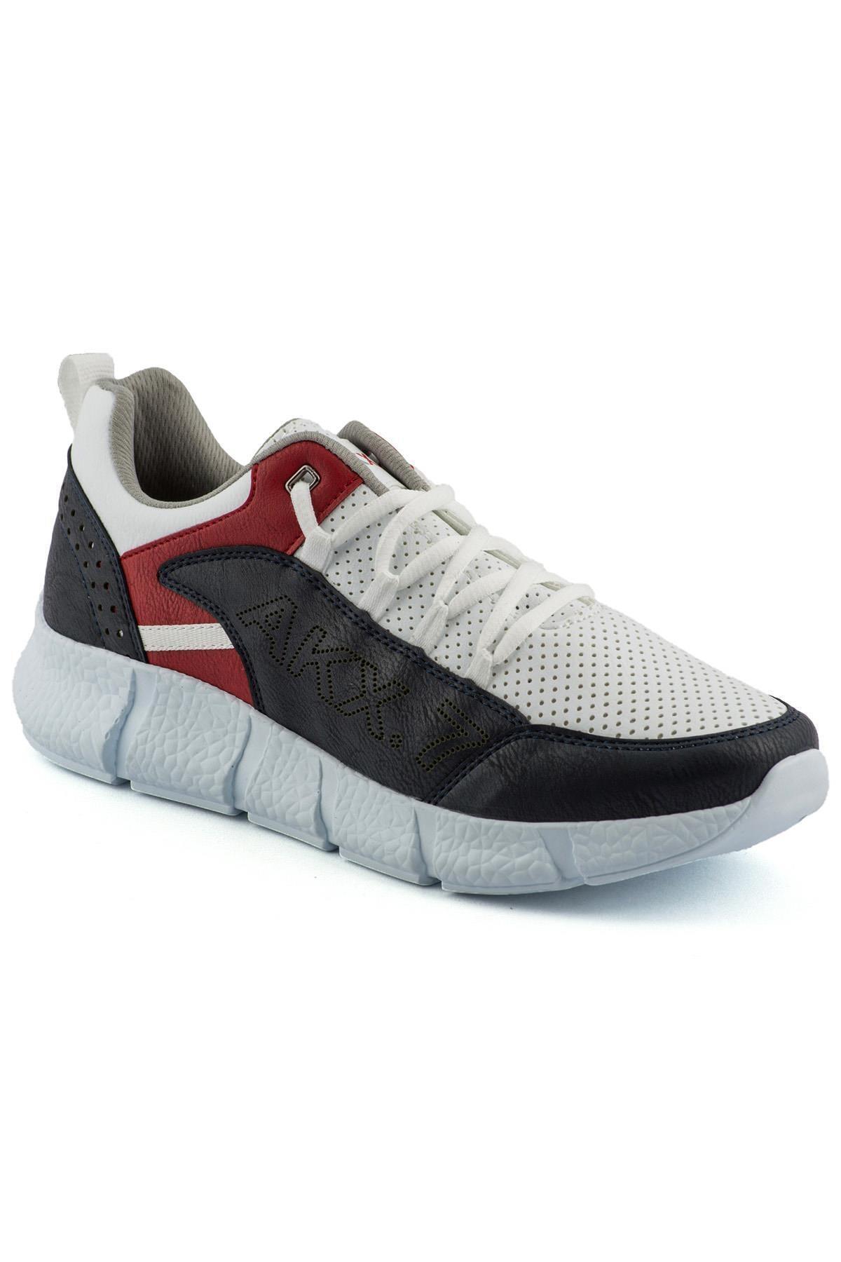 L.A Polo 021 Beyaz Lacivert Beyaz Erkek Spor Ayakkabı 1