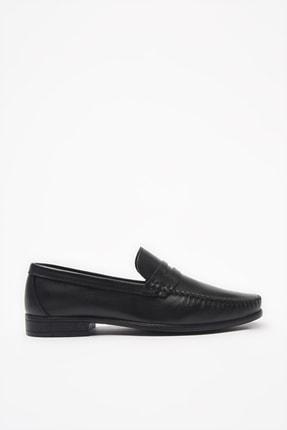 Hotiç Hakiki Deri Siyah Loafer Ayakkabı 02AYH206220A100