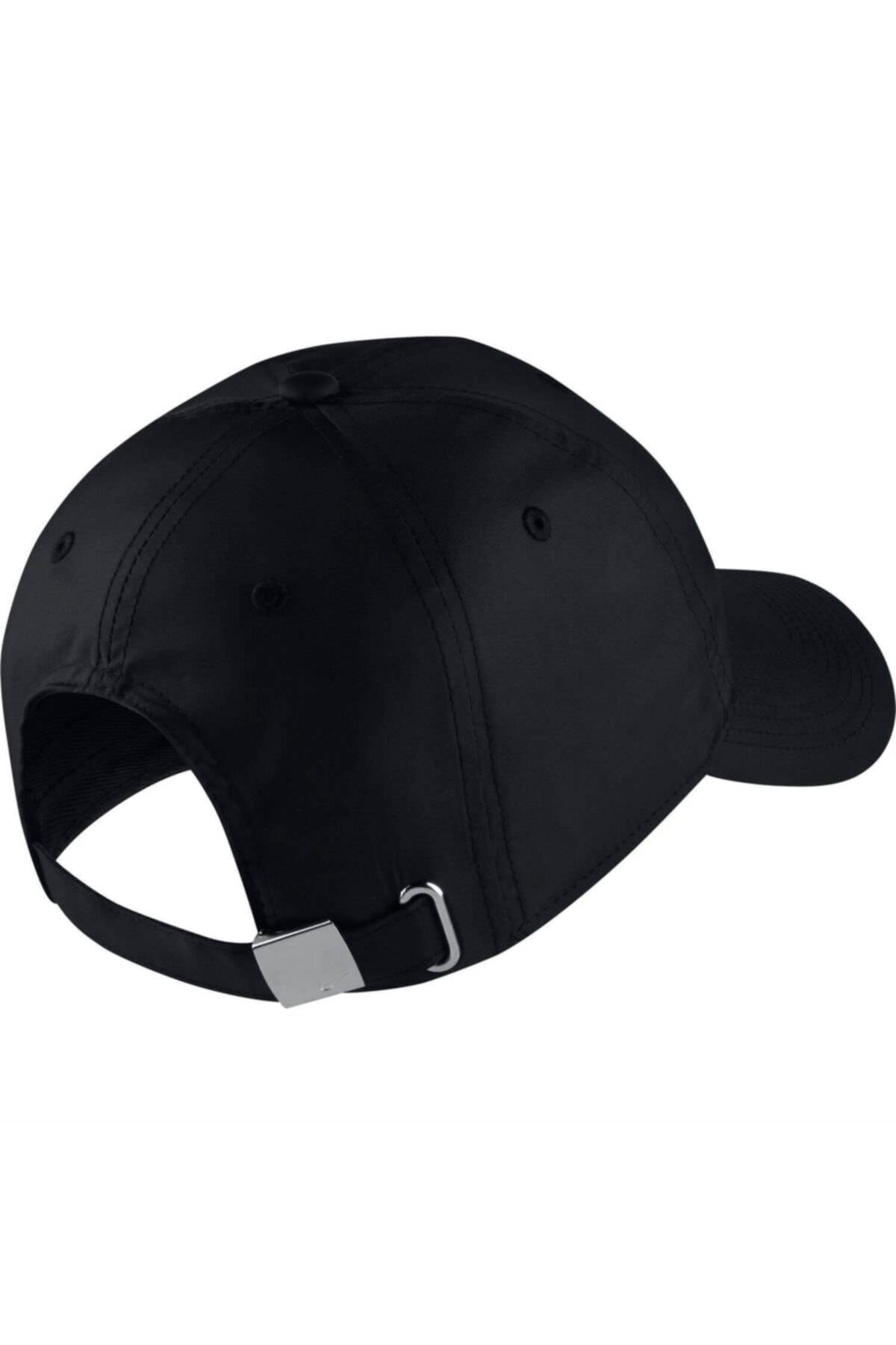 Nike Unisex Siyah Metal Swoosh Ayarlanabilir Şapka 943092-010 2