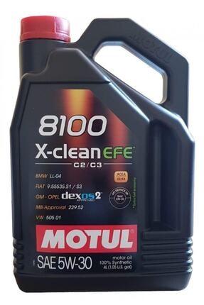 Motul 8100 X-clean Efe 5w-30 %100 Sentetik Araç Yağ 4l (22.01.2021 ÜRETİM TARİHLİ)