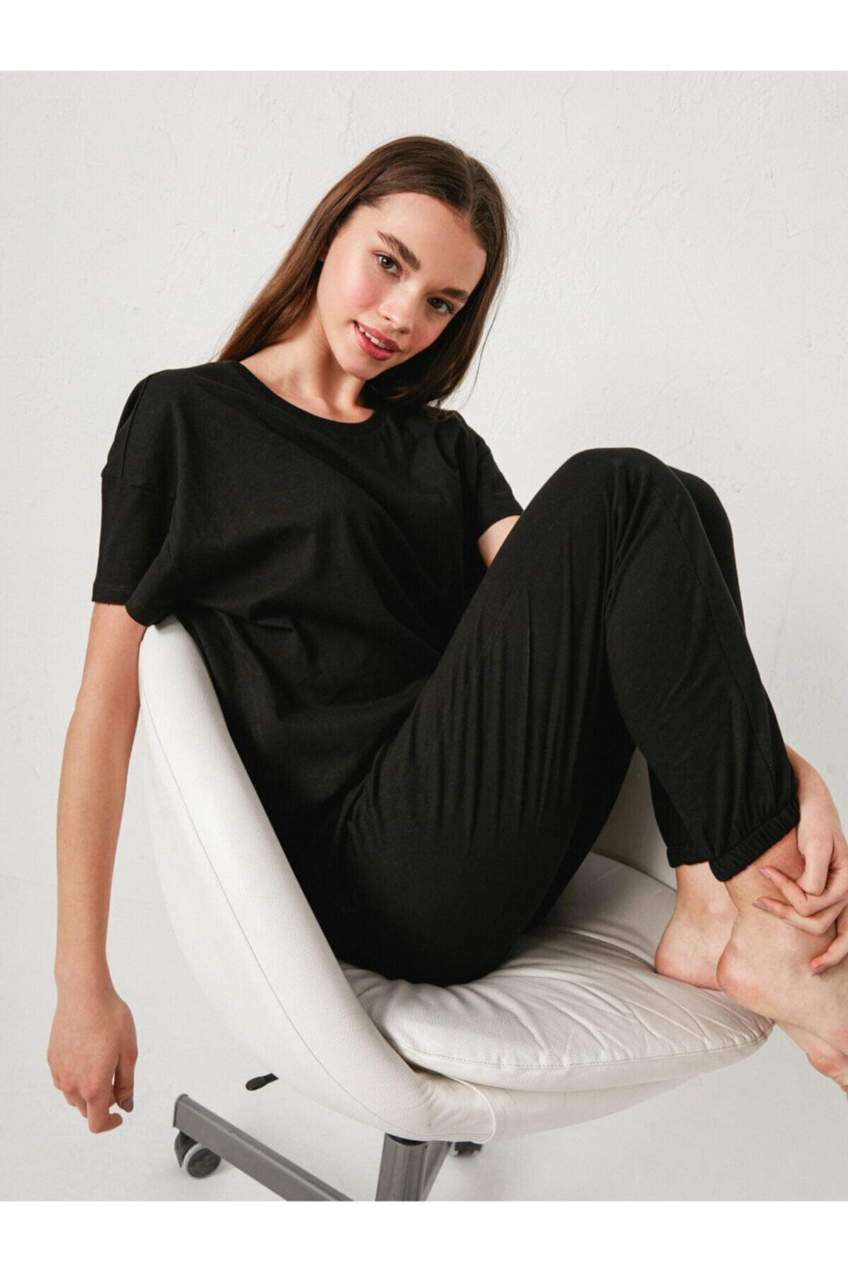 LC Waikiki Kadın Siyah Pijama Takım 1