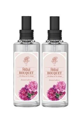 Rebul 2 Adet Bouquet Kolonya 100 Ml Spreyli Cam Şişe Buket Şakayık 100 Ml X2
