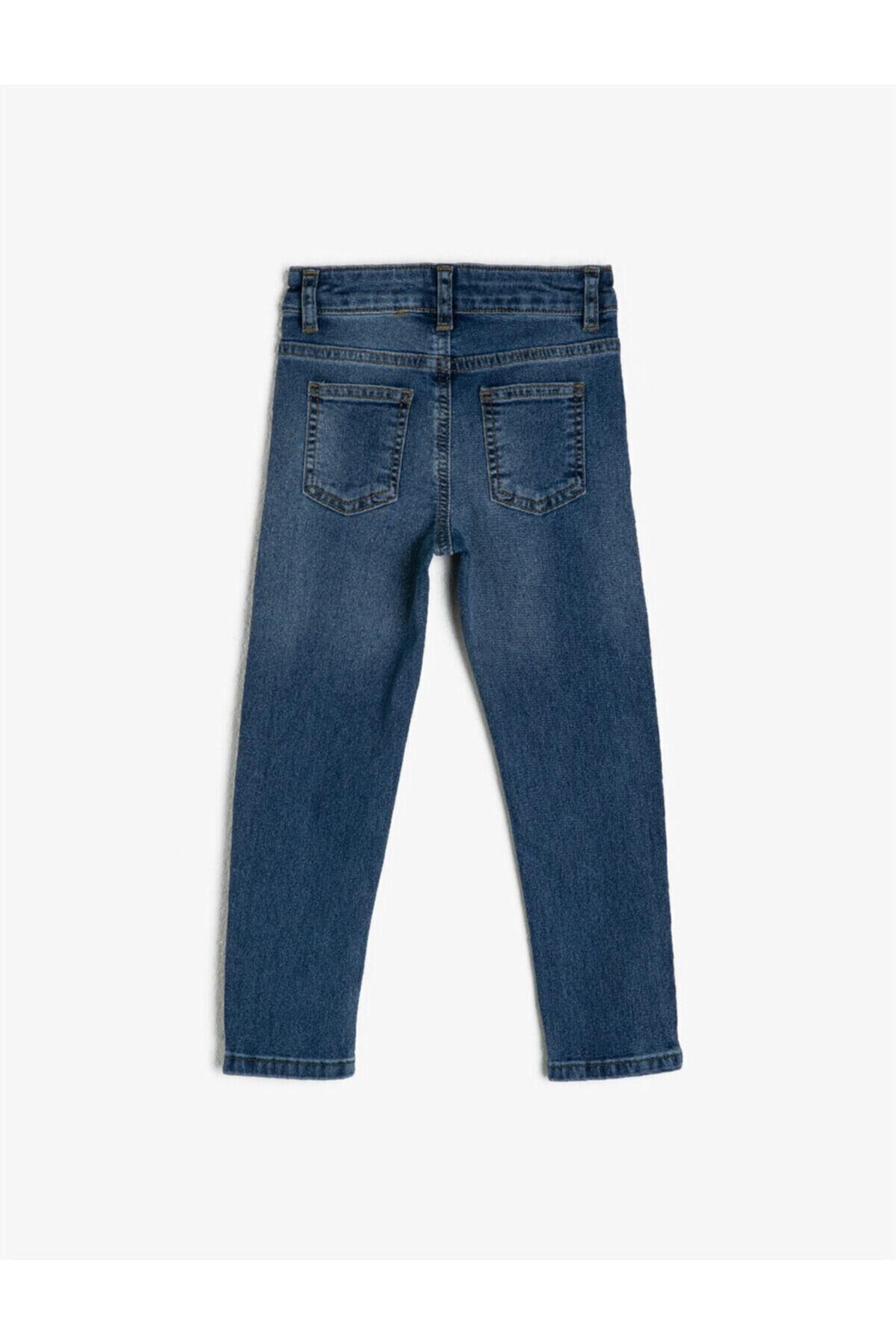 Koton Erkek Çocuk Mavi Cepli Jean Pantolon 2