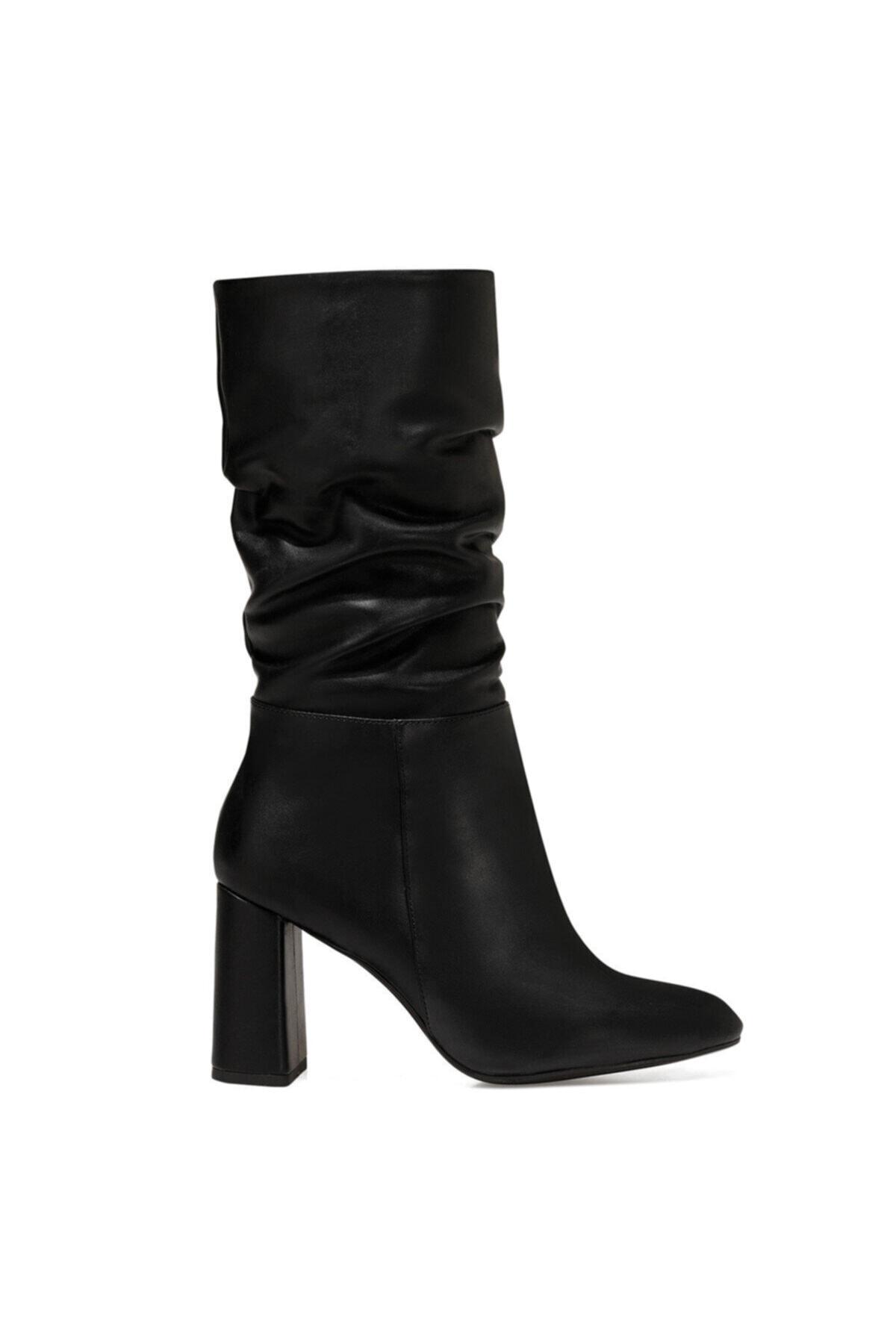 Nine West UMBRIA Siyah Kadın Ökçeli Çizme 100582154 1