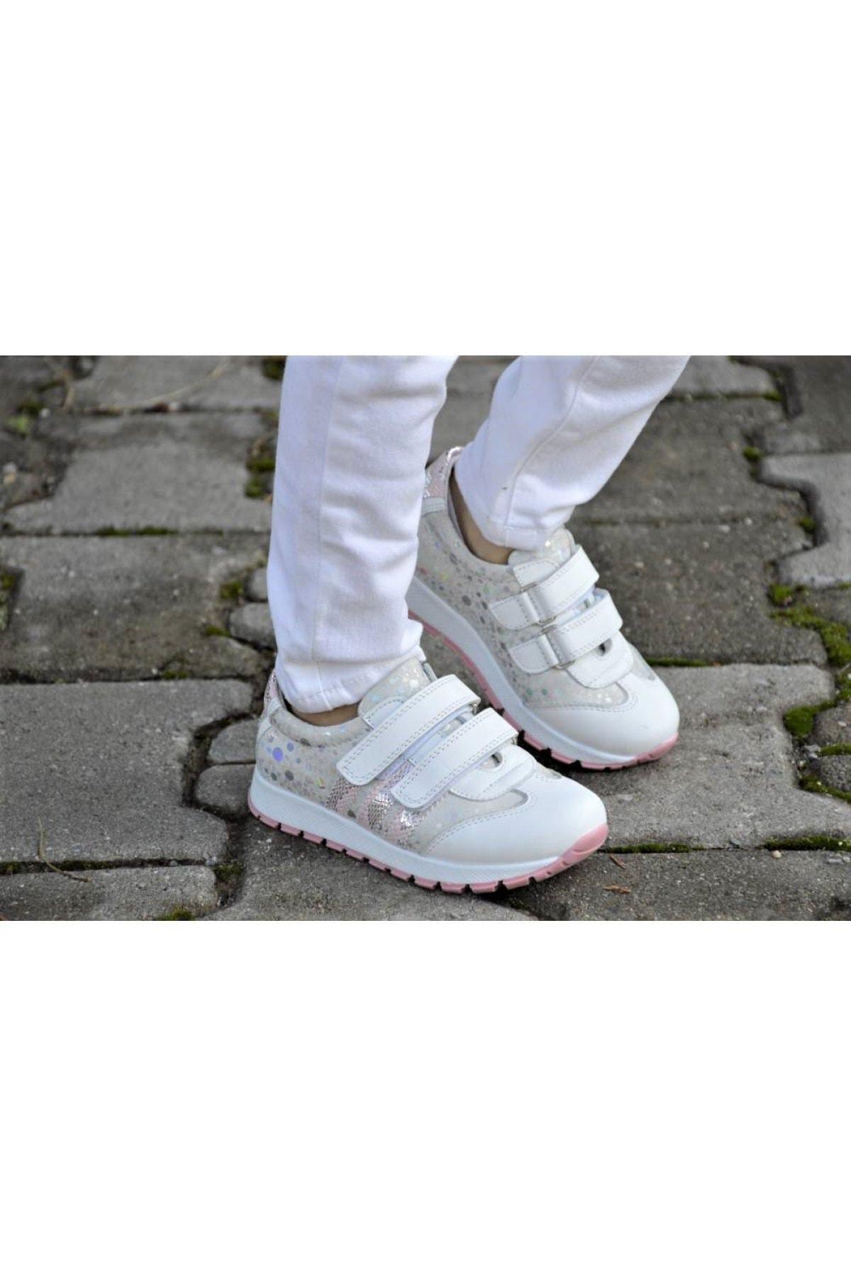 Shoemix Kız Çocuk Hakiki Deri Günlük Ayakkabı 1