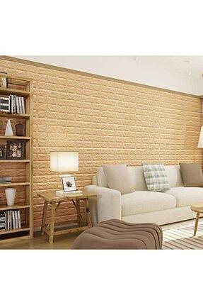Renkli Duvarlar Nw09 Sarı Tuğla Arkası Yapışkanlı Esnek Duvar Paneli Duvar Kağıdı