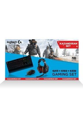 logitech Logıtech Oyuncu Set G213 Klavye+g332 Kulaklık+g102 Mouse