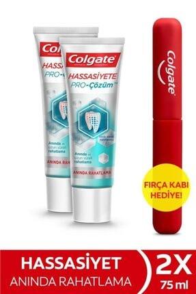 Colgate Hassasiyete Pro Çözüm Anında Rahatlama Diş Macunu 2 X 75 ml + Diş Fırçası Kabı Hediye