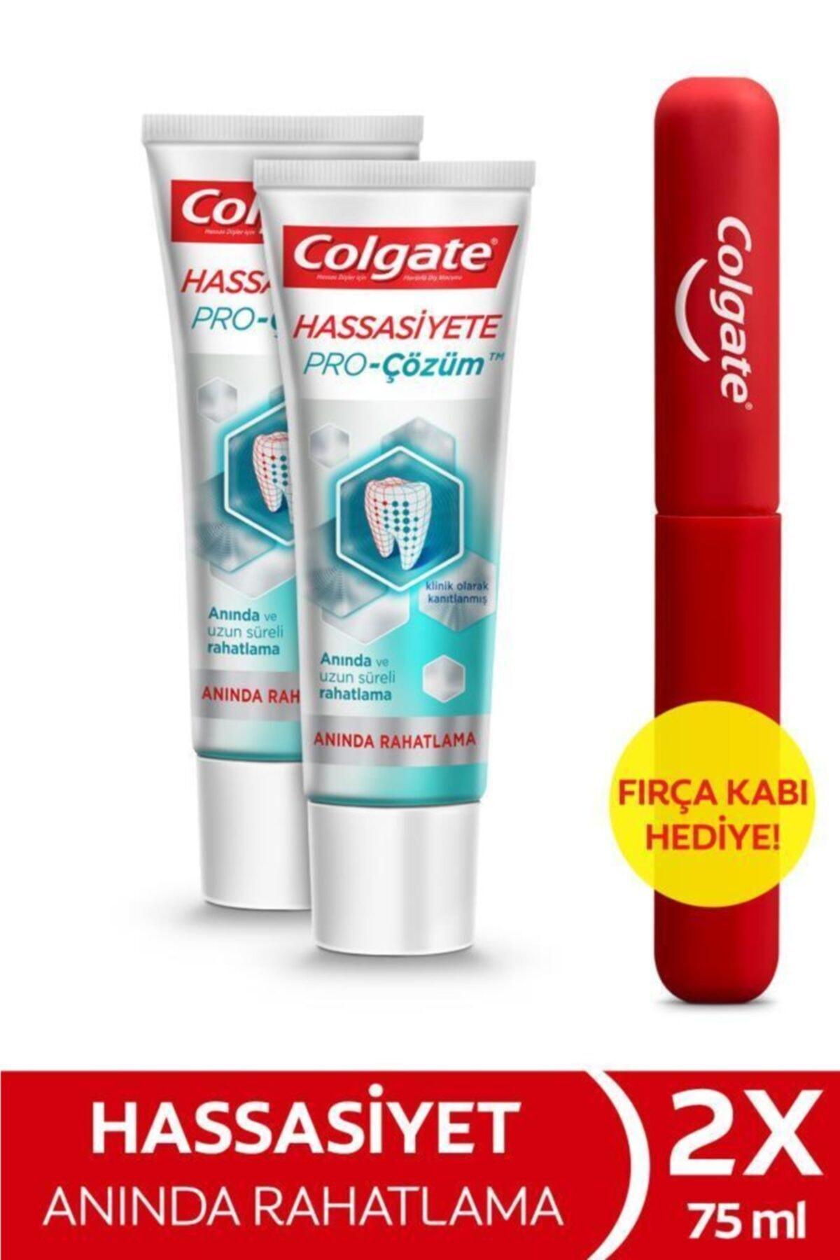 Colgate Hassasiyete Pro Çözüm Anında Rahatlama Diş Macunu 2 X 75 ml + Diş Fırçası Kabı Hediye 1