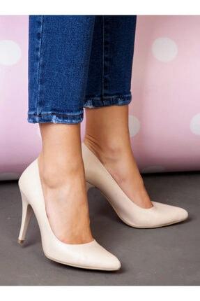 ayakkabıhavuzu Kadın Ten Cilt Topuklu Ayakkabı