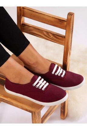 ayakkabıhavuzu Kadın Bordo Spor Ayakkabı