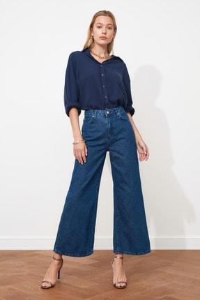 TRENDYOLMİLLA Lacivert Yüksek Bel Culotte Jeans TWOSS20JE0141