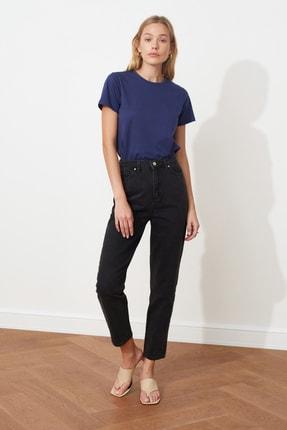 TRENDYOLMİLLA Siyah Yüksek Bel Mom Jeans TWOSS20JE0108