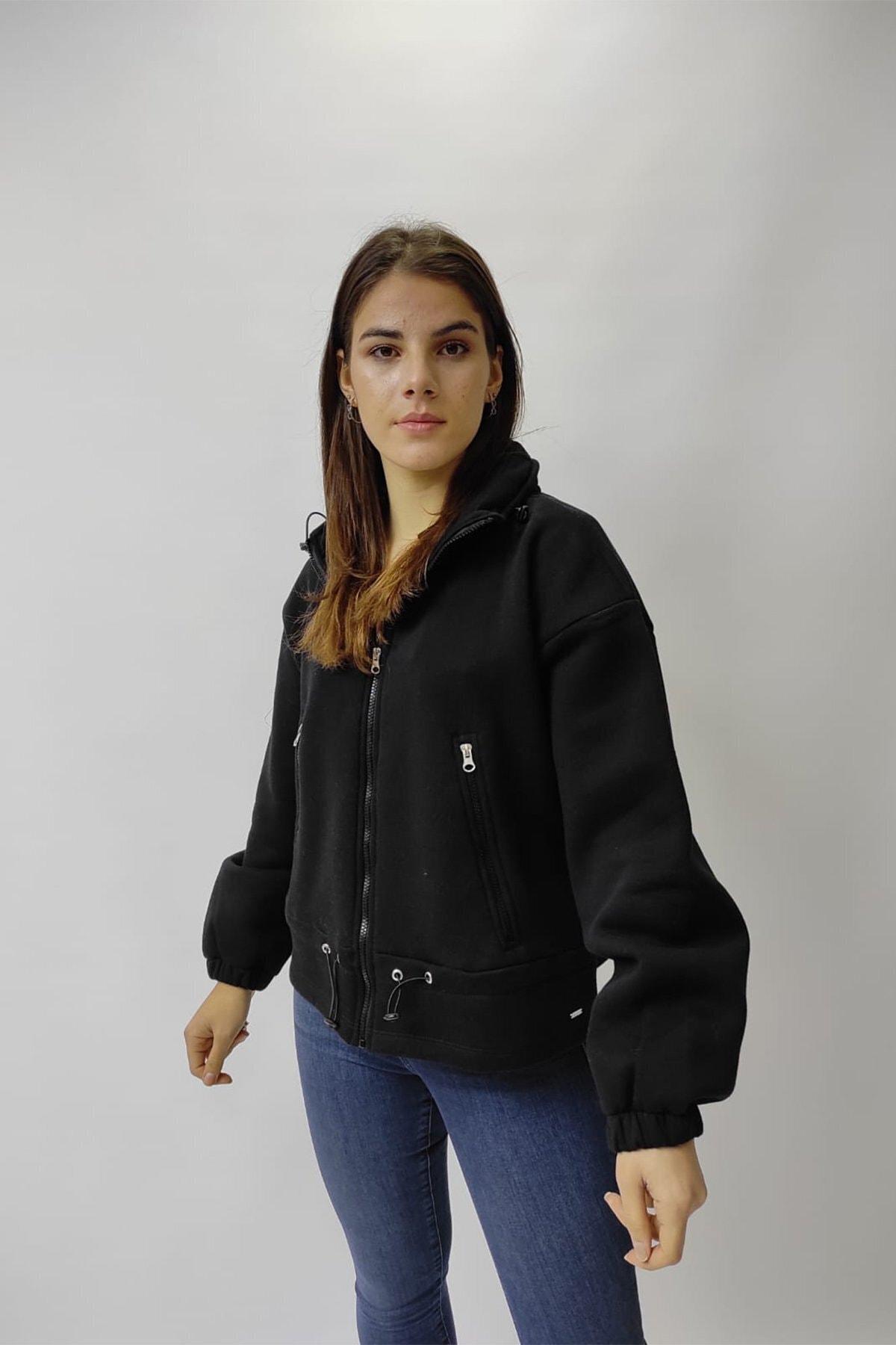 Loft Kadın Siyah Sweatshirt 1