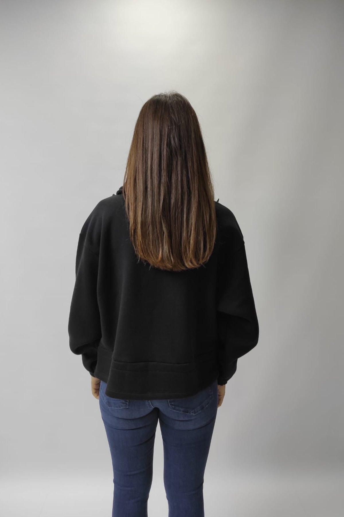 Loft Kadın Siyah Sweatshirt 2