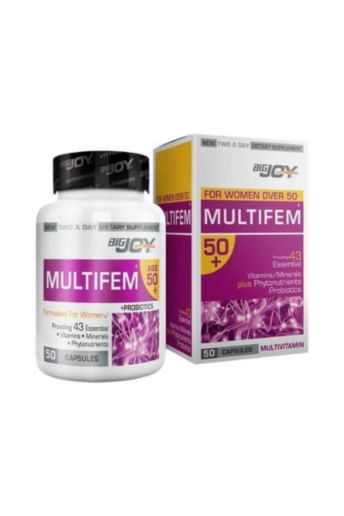 Big Joy Vitamins Multifem 50+ 50 Kapsül 1