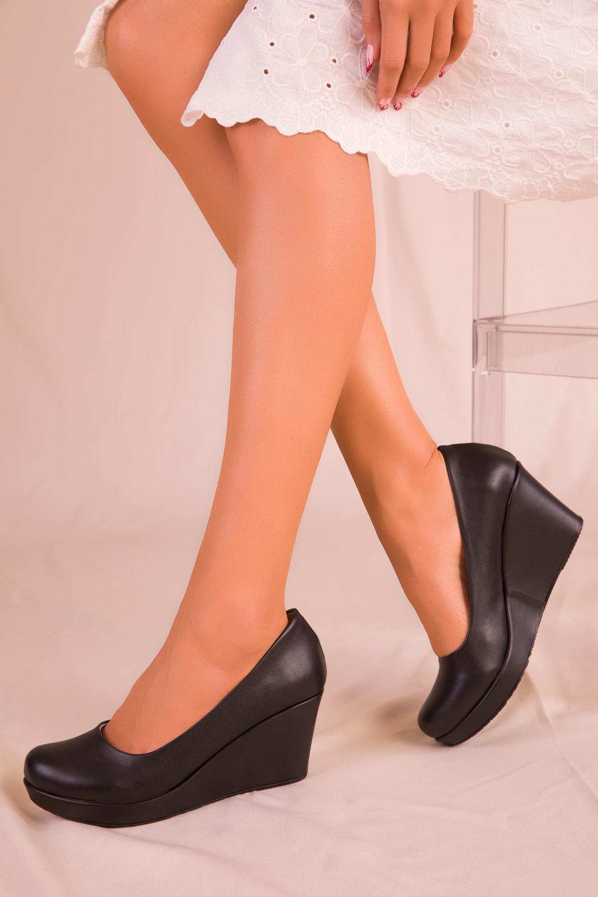 SOHO Siyah Kadın Dolgu Topuklu Ayakkabı 15849 2