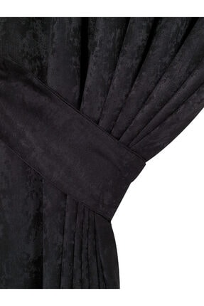 Brillant Ipek Soft Siyah Tek Kanat 100*260 Fon Perde