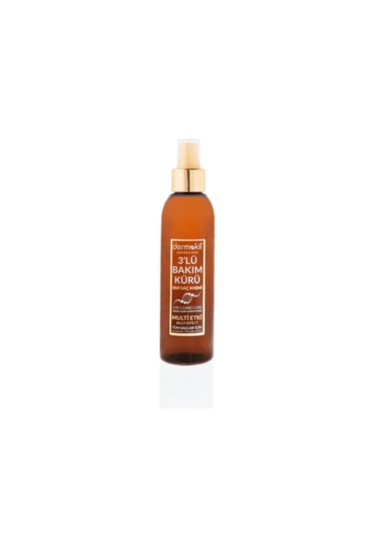 Dermokil Natural Hair Sıvı Saç Kremi 3 Lü Bakım Kürü 200 Ml 1