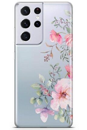 Melefoni Galaxy S21 Ultra Uyumlu Flora Serisi Uv Baskılı Silikon Kılıf