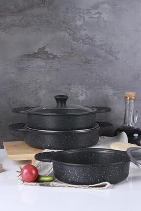 ACAR Ahenk Siyah Döküm Sahan Seti - 3'lü