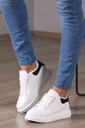 Madmext Erkek Beyaz-siyah Sneaker Ms041