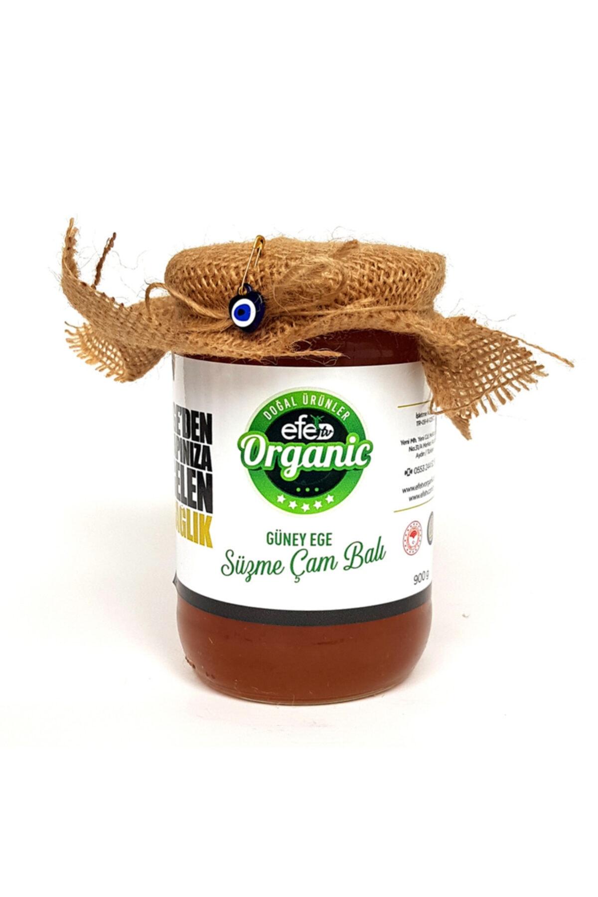 Efe Organik Güney Ege Süzme Çam Balı 900 gram 1