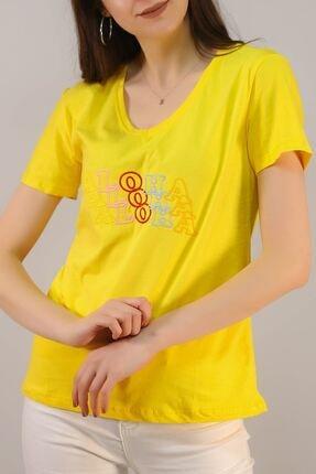 Lukas Nakışlı Tişört Sarı - 5001.336.