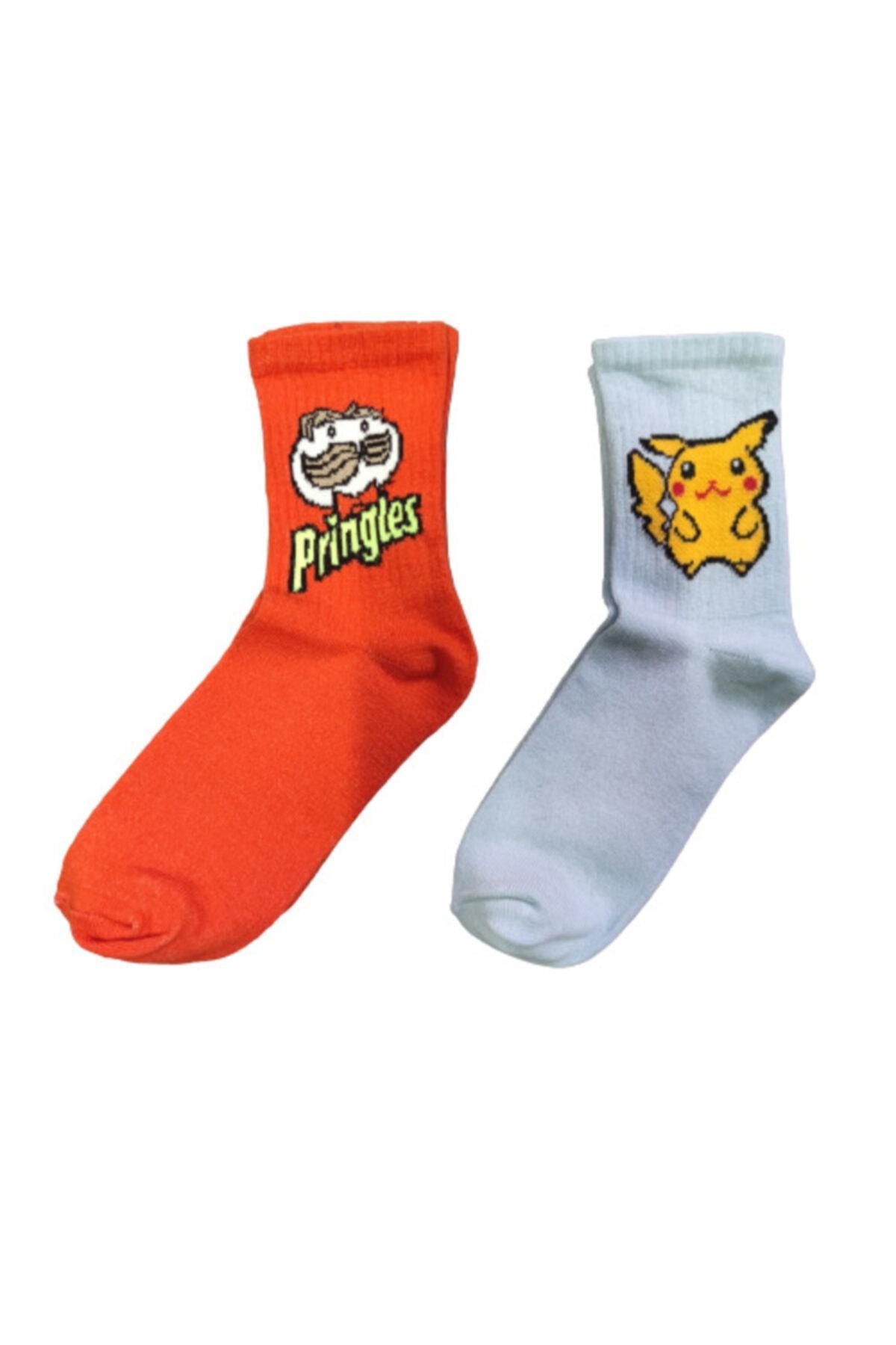 SOYTEMİZ ÇORAP Unisex Renkli Kolej 10 Adet Farklı Desen Renk Çorap 2