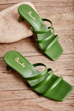 Bambi Yeşil Kadın Sandalet