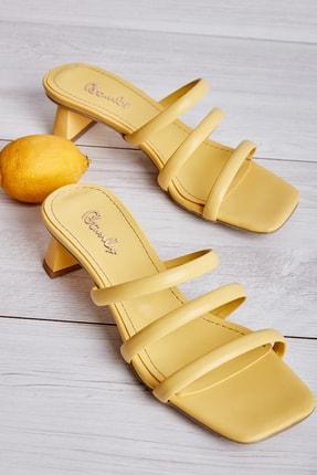 Bambi Sarı Kadın Sandalet L0533001509