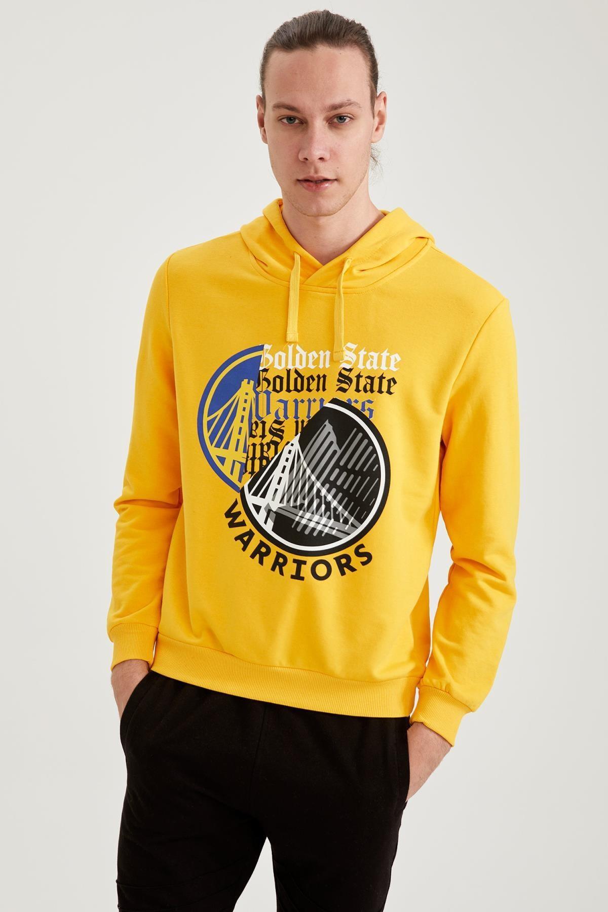 DeFacto Erkek NBA Lisanslı Unisex Slim Fit Kapüşonlu Sweatshirt T7042AZ21SP