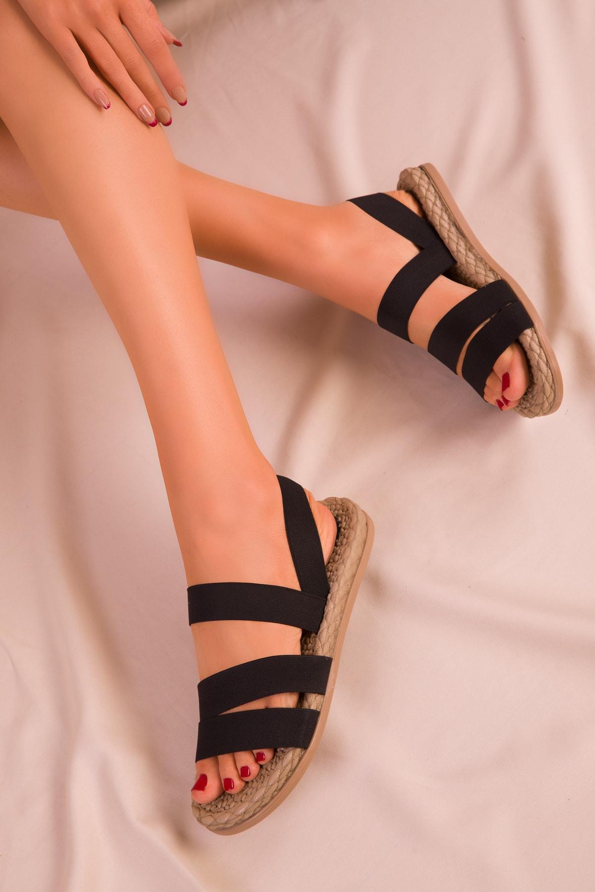 SOHO Siyah Kadın Sandalet 15098 1