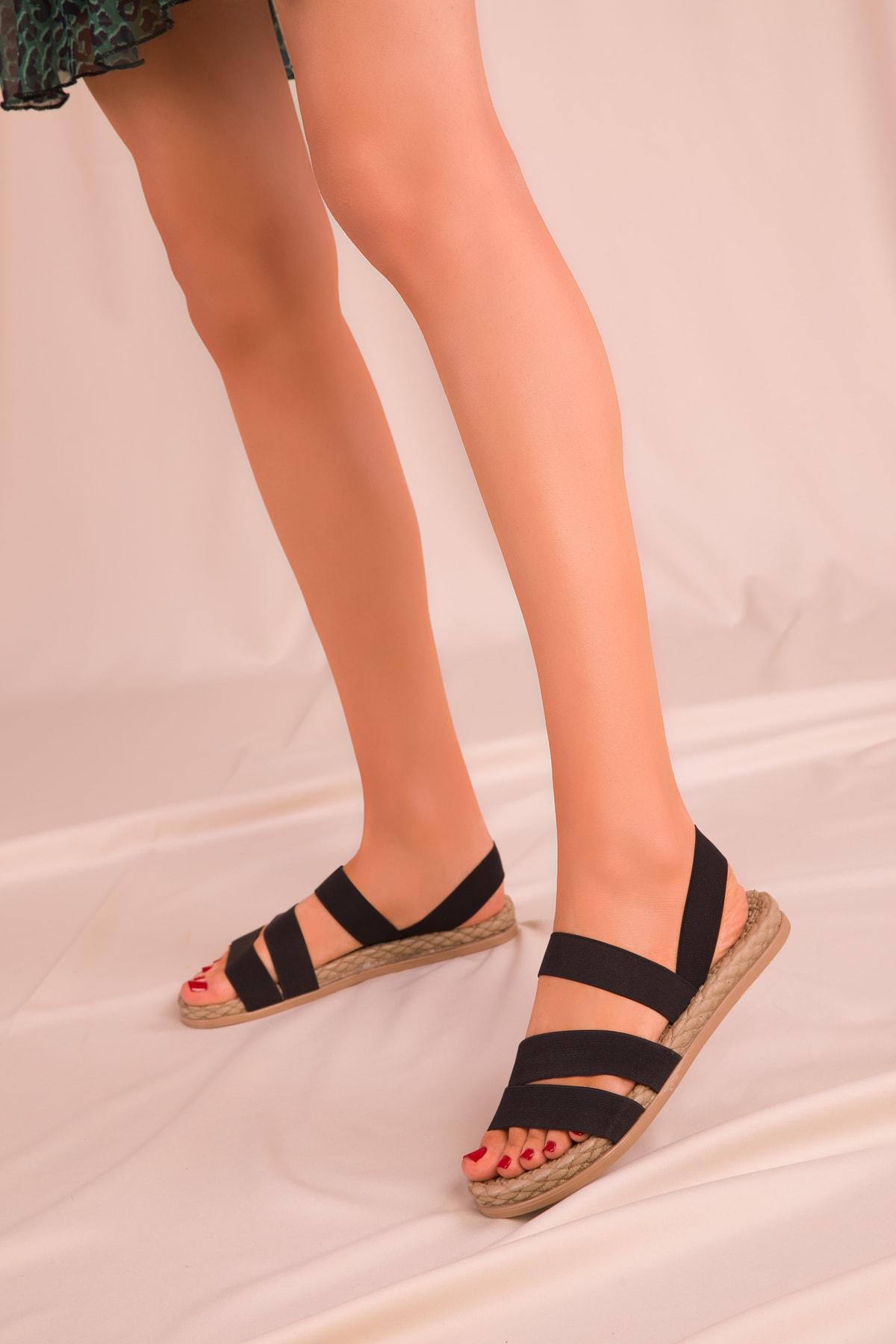 SOHO Siyah Kadın Sandalet 15098 2