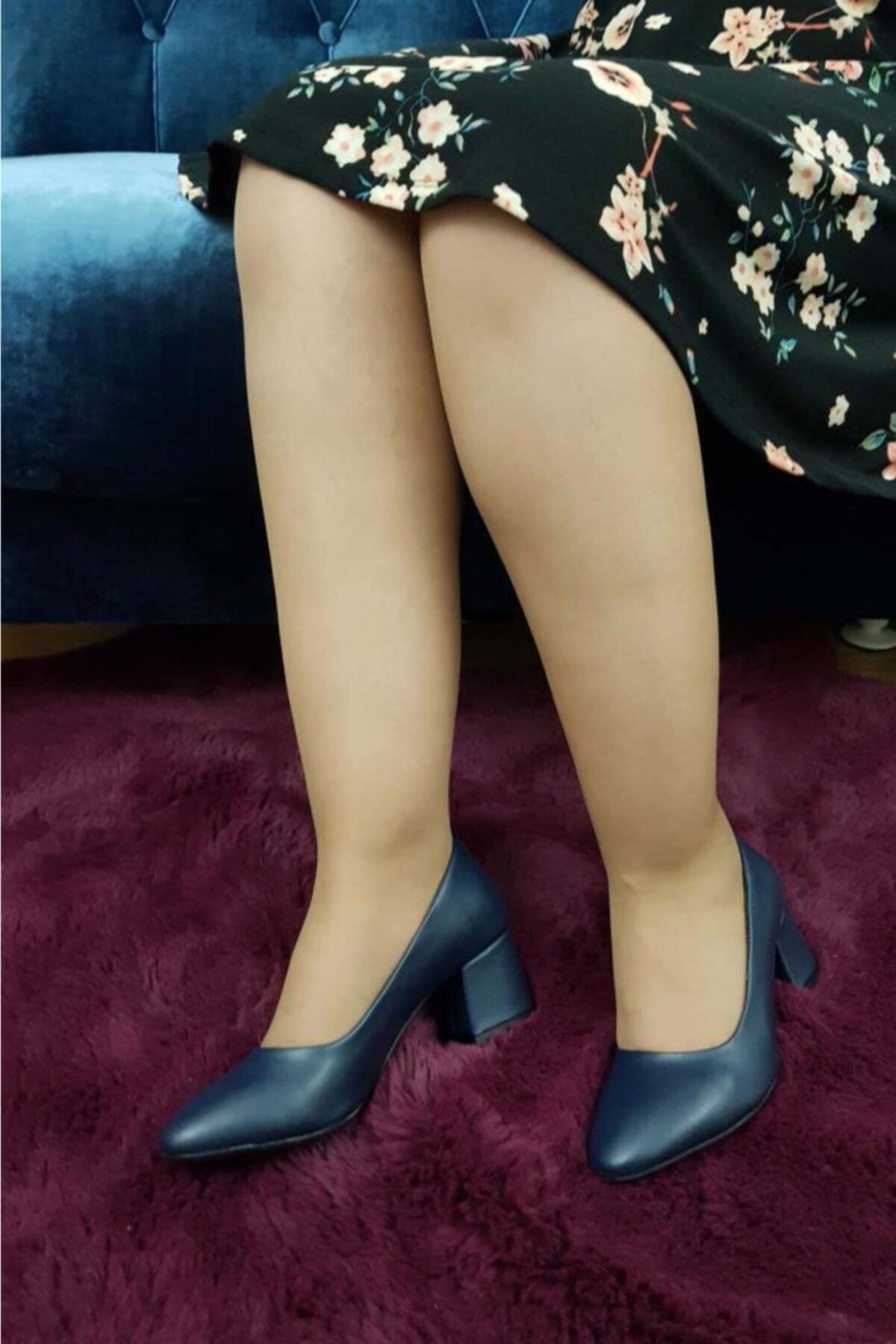 TREND Kadın Lacivert Topuklu Ayakkabı 1