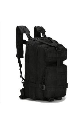 Silyon Askeri Giyim Taktik Su Geçirmez Askeri Tip Çanta 35 Litre Siyah Renk
