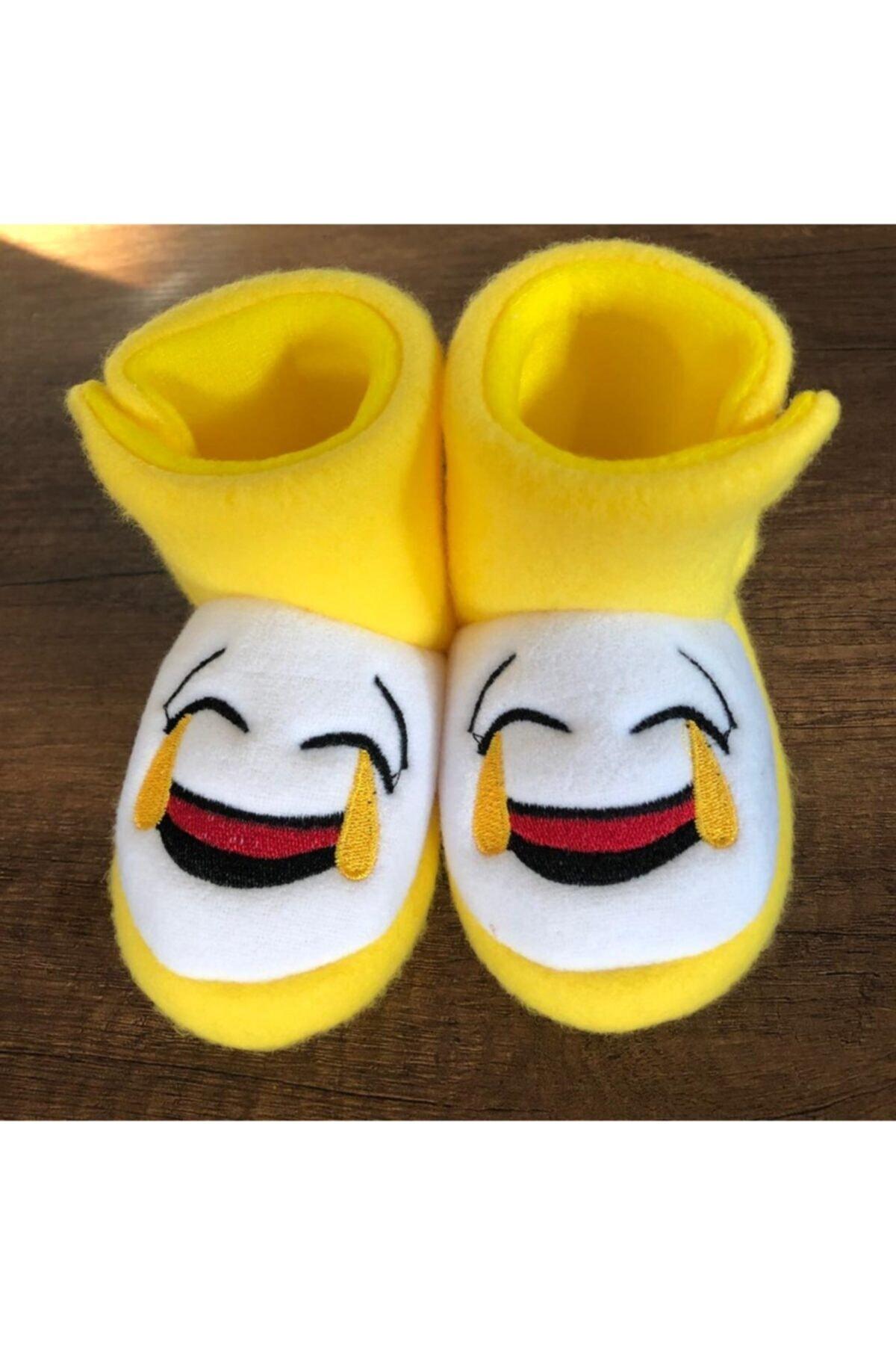 Pomidik Unisex Çocuk Sarı Emojili Panduf 1