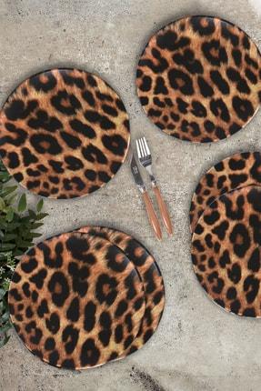 Keramika Leopar Servis Tabağı 26 Cm 6 Adet