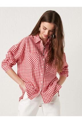 LC Waikiki Kadın Kırmızı Gömlek