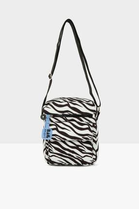 Bagmori Zebra Desenli Kadın Cepli Mini Çanta M000005445