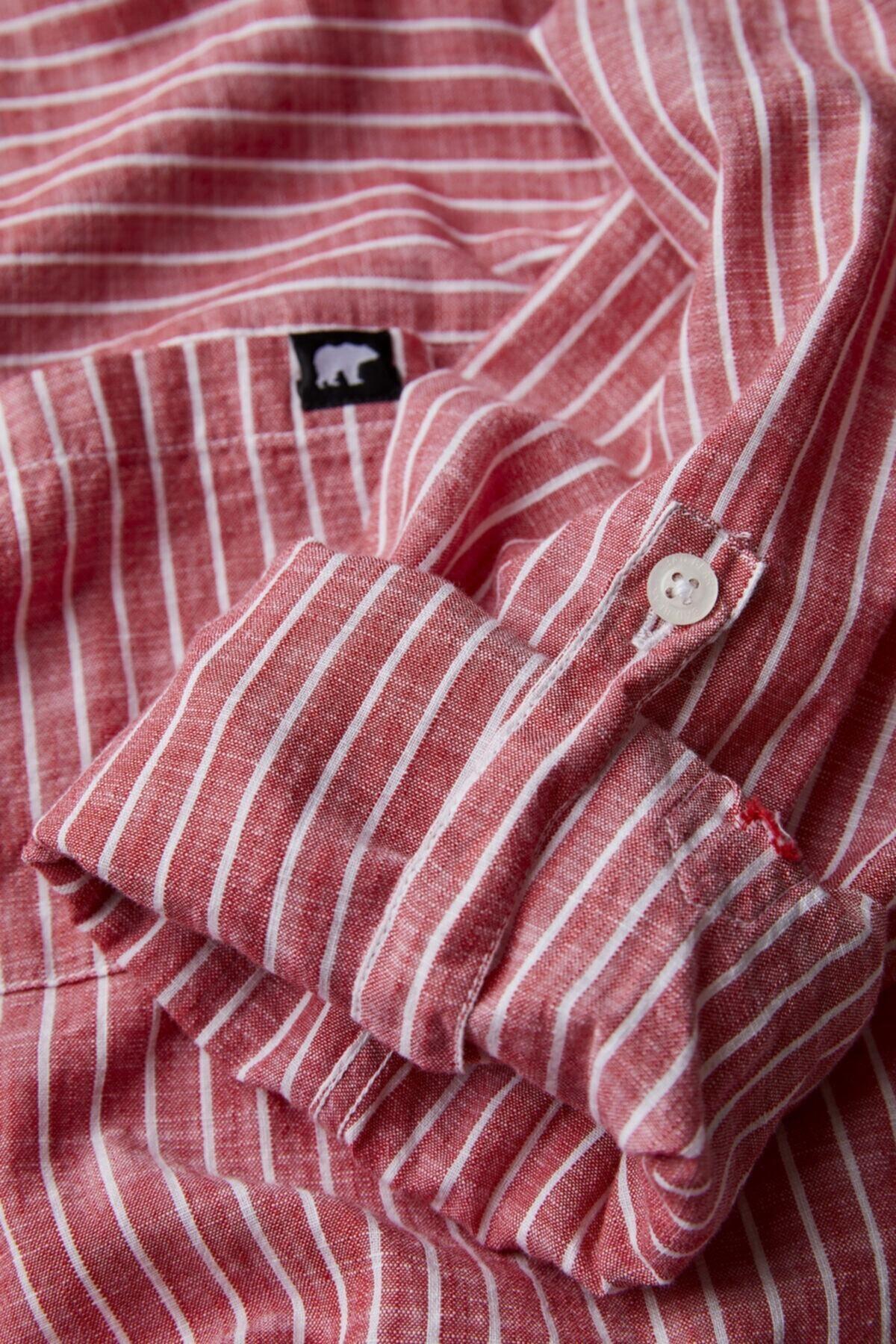 Bad Bear Erkek Turuncu Düğmeli Gömlek 2