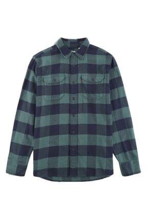Levi's Erkek Yeşil Gömlek Classic Flap Pockets 19587-0133