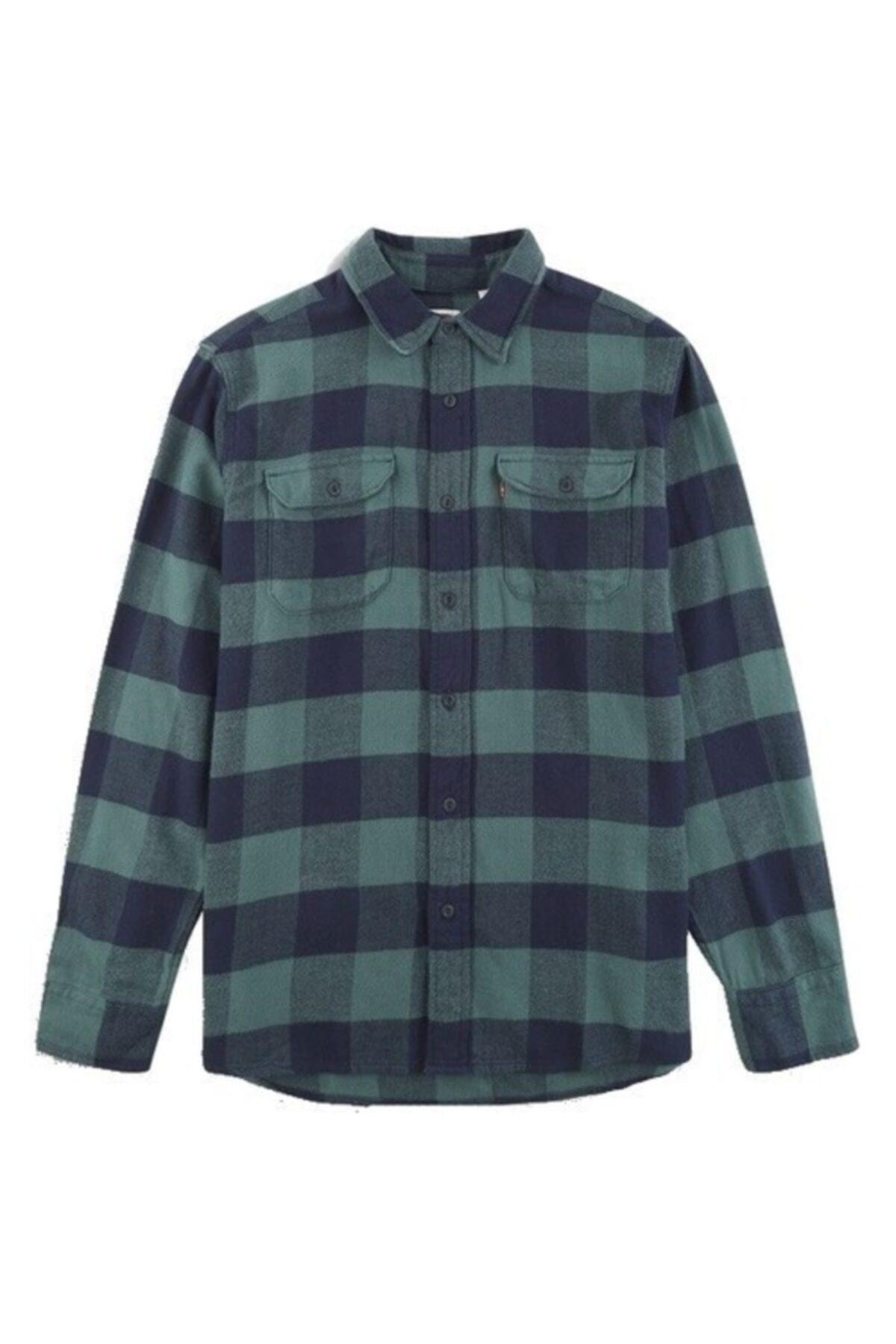 Levi's Erkek Yeşil Gömlek Classic Flap Pockets 19587-0133 1