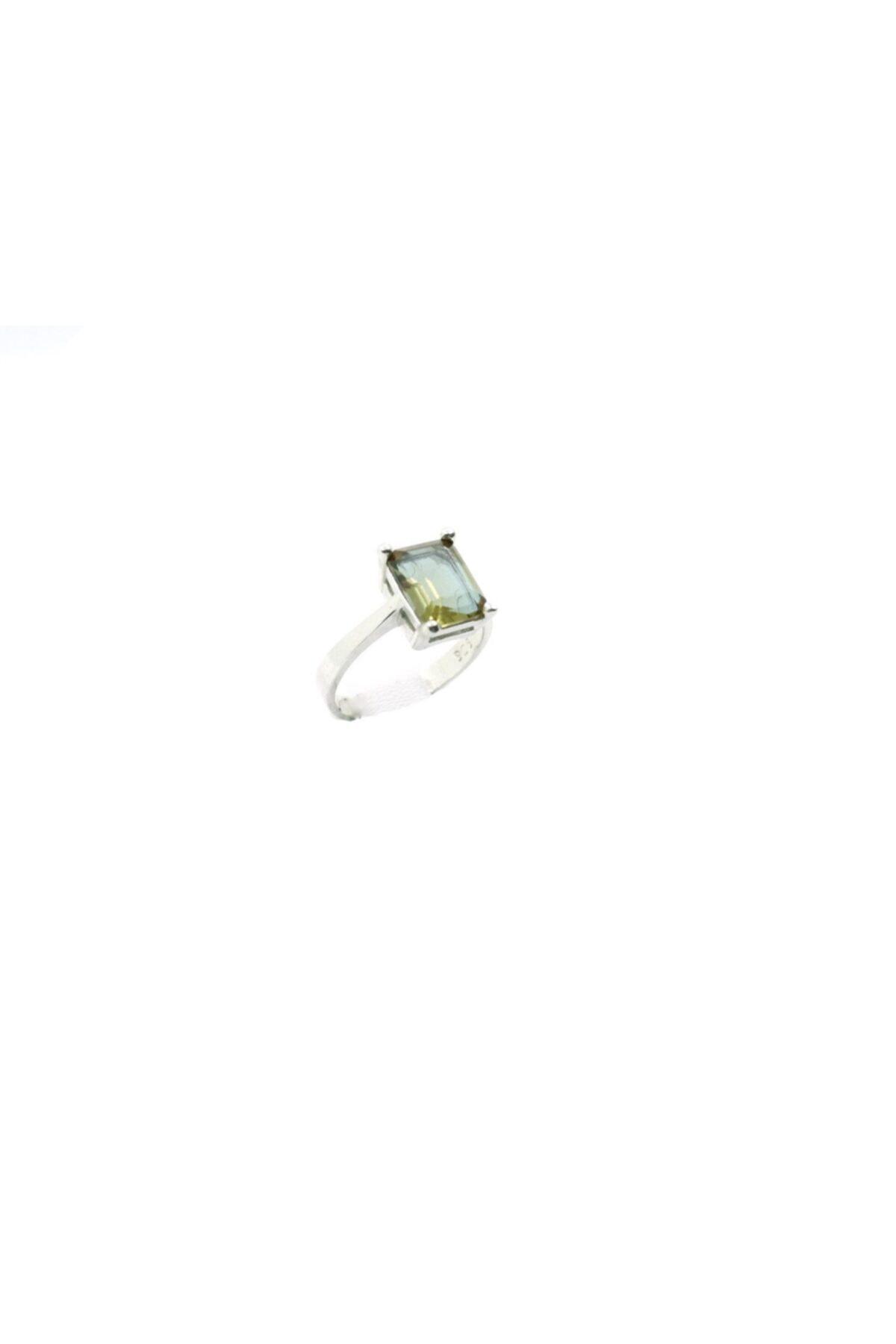 Aykat Taşı Dikdörtgen Renk Değiştiren Sultanit Taşlı Gümüş Bayan Yzk-256 1